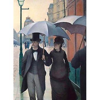 Paris-gatan; Regnig dag Notebook