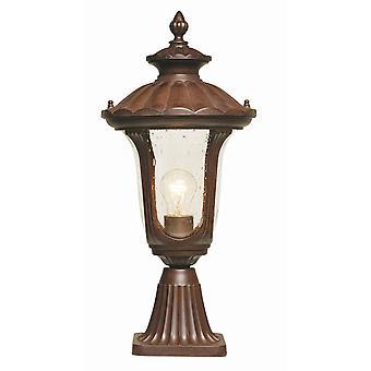 Chicago CC3/Small Rusty Bronze Pedestal Lantern - Elstead Lighting CC3 / CC3/S