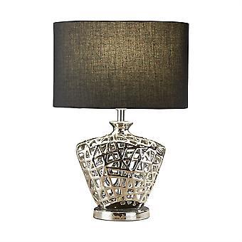Réseau Chrome Lattice lampe de Table Design avec abat-jour noir - projecteur 4552CC