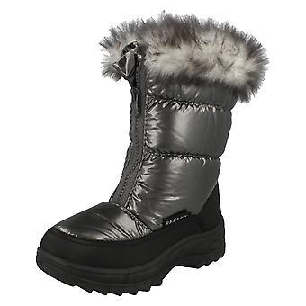 Piger Spot på pels foret Snow Støvler