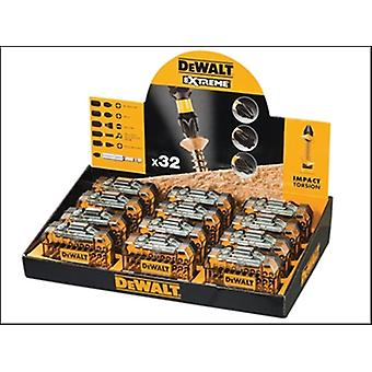 DEWALT Counter Display superiore torsione 32 pezzo Screwdriving Kit x 12