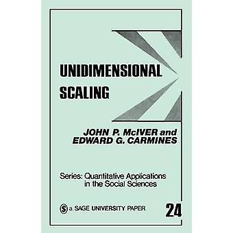 Unidimensional Scaling by McIver & John P.