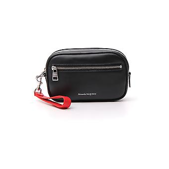 Alexander Mcqueen Black/red Leather Beauty Case
