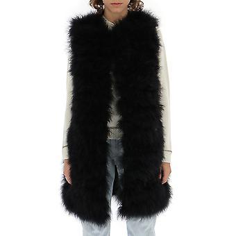 Red Valentino Black Fur Vest