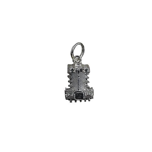 Silver 10x13mm hollow Westminster Abbey Pendant or Charm