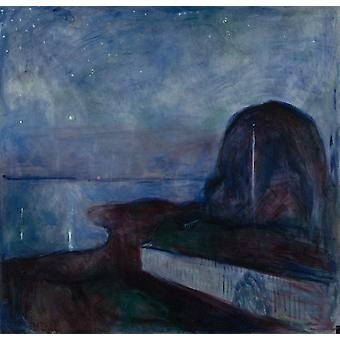 Om natten, Edvard Munch, 50x48cm
