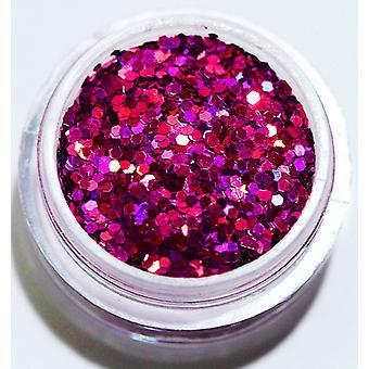 1er glitter hexagone rose