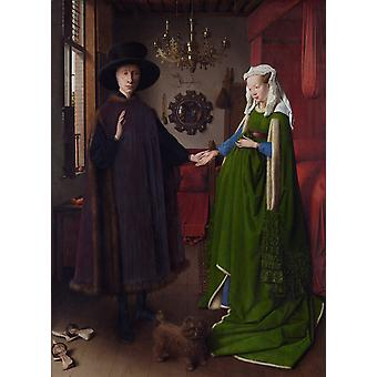 The Arnolfini Portrait, Jan Van Eyck, 50x37cm