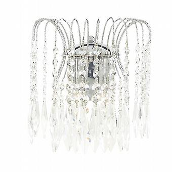 Searchlight Waterfall 4172-2 Traditional Wall Lights Double