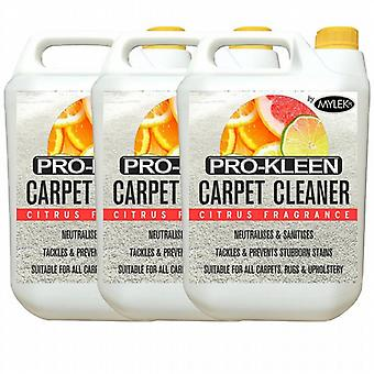 Mylek Upholstery Carpet Cleaning Solution Citrus Fragrance; 3 X 5 Litres