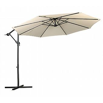 Royalcraft Ivory 3m Round Standard Cantilever Parasol With Cross Stand