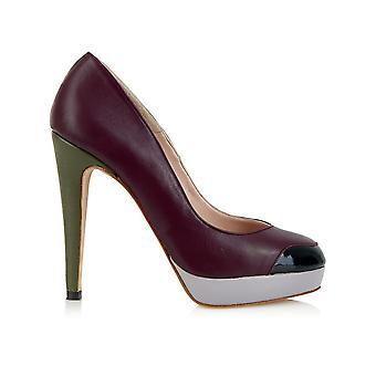 Mayfair platform plum shoes