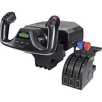 Logitech Gaming Saitek Pro Volo Yoke Sistema P -44 Volo sim yoke USB PC Black Screw fissaggio