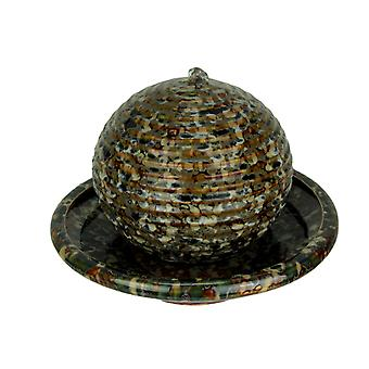 Mosaic Bronze Porcelain Floating Ball Tabletop Fountain