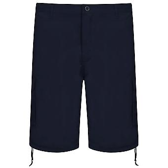 NOIZ Navy Cotton Cargo Shorts With Pockets