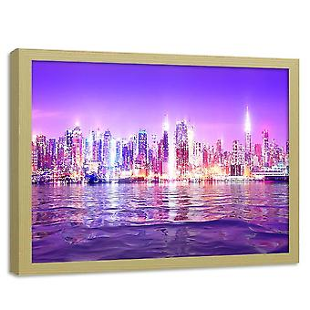Poster In Frame, City Lights At Night 2