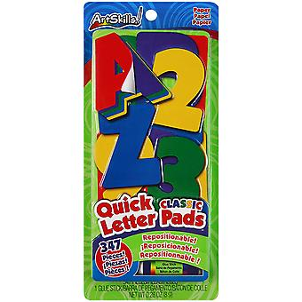 Quick Letter Number Pads Repositionable With Glue Stick Classic Colors, 347 Pieces Pa1476