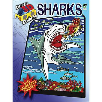 Dover Publications Sharks Coloring Book 3D Dov 48426