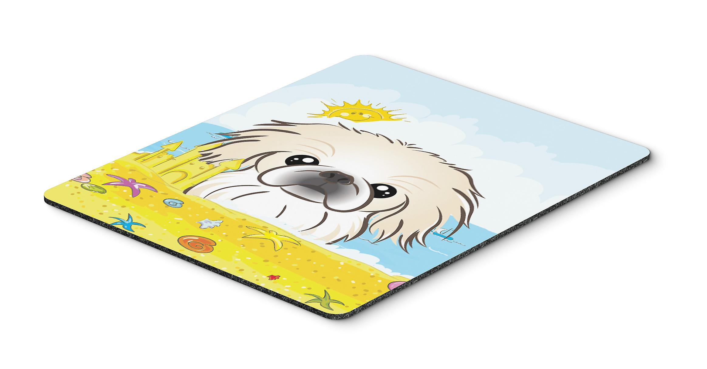 Pekingese Summer Beach Mouse Pad, Hot Pad or Trivet BB2089MP