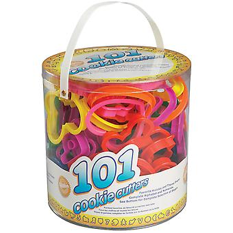 Plastic Cookie Cutters 101/Pkg-Assorted Shapes, Numbers & Letters W1050