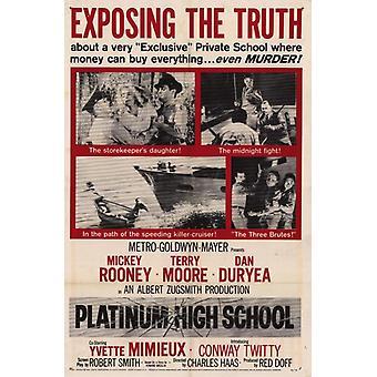 Platin-High-School-Film-Plakat-Druck (27 x 40)