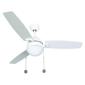 "Ceiling Fan Boreas White 122 cm / 48"" with lighting by Beacon"