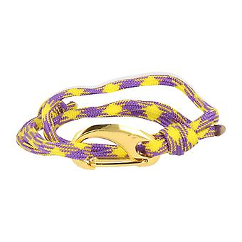 Vikings bracelet yellow purple lobster clasp gold