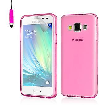 Crystal gel geval voor het Samsung Galaxy A3 SM-A300 (2015) - Hot Pink