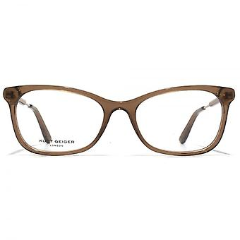 Kurt Geiger Ella Oval Acetate Glasses In Brown