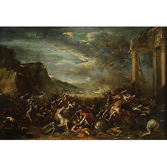 Salvator Rosa - A Cavalry Battle Poster Print Giclee