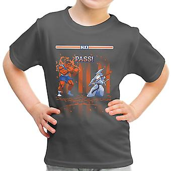 Herr der Ringe Street Fighter Balrog Vs Gandalf Kinder T-Shirt
