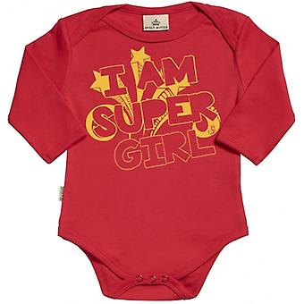 Spoilt Rotten I Am Super Girl Organic Baby Grow