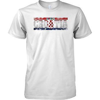 Croazia Grunge paese nome effetto bandiera - Mens T-Shirt