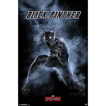 Captain America Civil War - Black Panther Poster Poster Print