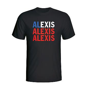 Alexis Sanchez Chile Spieler Flag T-shirt (schwarz) - Kids