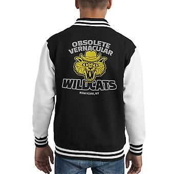 Obsoleta Varsity Jacket vernacolare Wildcats Royal Tenenbaums capretto