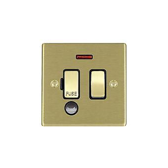 Hamilton Litestat Hartland Satin Brass 13A DP Fuse SP + Neon+CO SB/BL