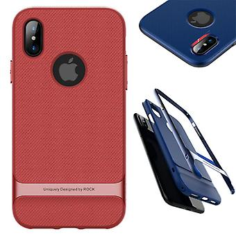 Original ROCK silicone hybrid case bag black / red for Apple iPhone X / 10