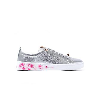 Women's Kelleip Trainers - Silver Blossom Leather