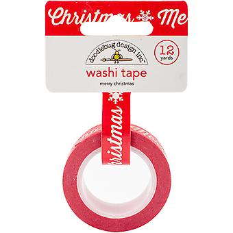 Doodlebug Washi Tape 15mmX12yd-Here Comes Santa Claus Merry Christmas WT5330