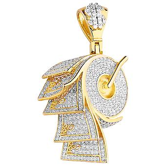 Premium Bling - 925 sterling silver money role pendant gold