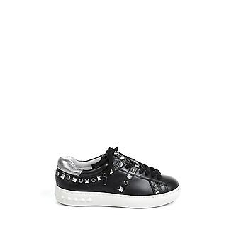 Ash women's PLAY01BLACK black leather of sneakers