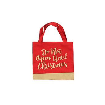 CGB Giftware Christmas Do Not Open Glitter Gift Bag