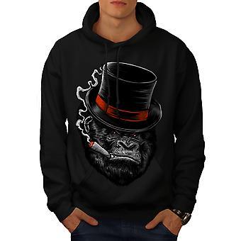 Monkey Mafia Smoke Men BlackHoodie | Wellcoda