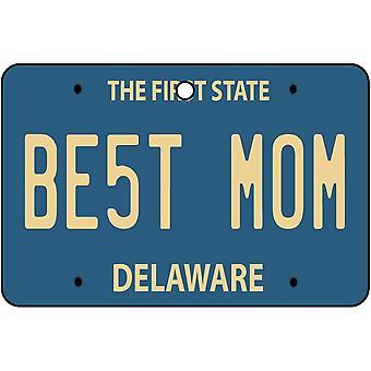 Delaware - Best Mom License Plate Car Air Freshener