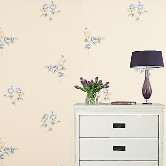Sanderson Beige Wallpaper Roll - Floral Washable Design - Colour: WR8498/2
