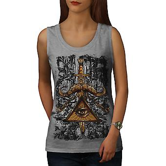 Triangle Society Women GreyTank Top | Wellcoda