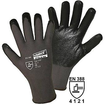 worky 1157 Worky 1151 Foam Nitrile Coated Knitted Nylon Glove (Size 10)