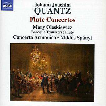 J.J. Quantz - Johann Joachim Quantz: Fløjte koncerter [CD] USA import