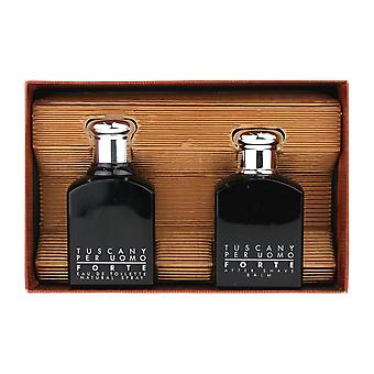 Aramis Tuscany Per Uomo Forte 2 Piece Gift Set EDT 3.4Oz & Aftershave 3.4Oz
